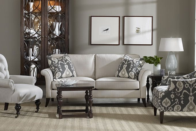 Each Of Sam Mooreu0027s Sofas Has Correlating Chairs.