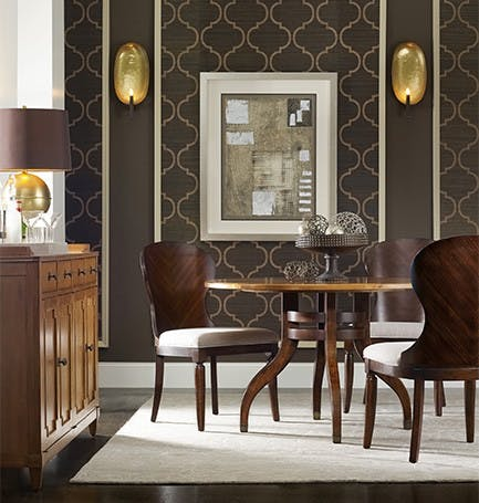 Palisade. 48 Inch Round Table Contrasts Maple Top And Walnut Base And Chairs